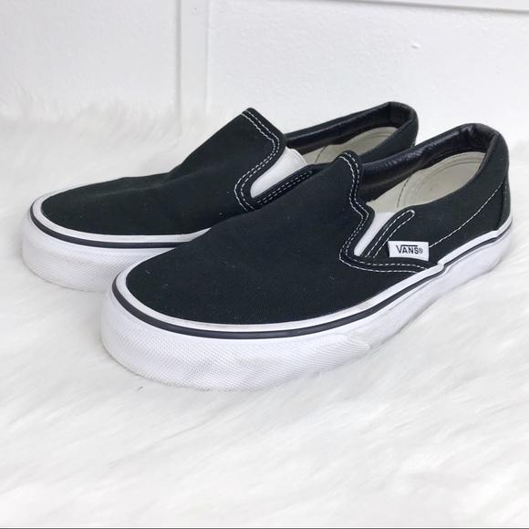 Vans Shoes | Classic Black Slip On Men